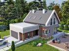Проект одноэтажного жилого дома с террасой и мансардой